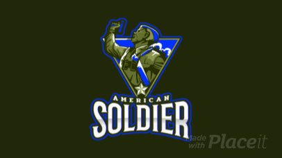 Animated Gaming Logo Maker Featuring a Vintage Soldier Clipart 2449ii-2889