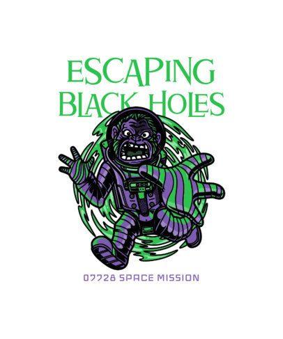 Illustrated T-Shirt Design Creator with an Astronaut Ape 234i-el1