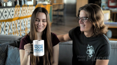 15 oz Magic Mug Video Featuring a Young Couple Laughing 31584