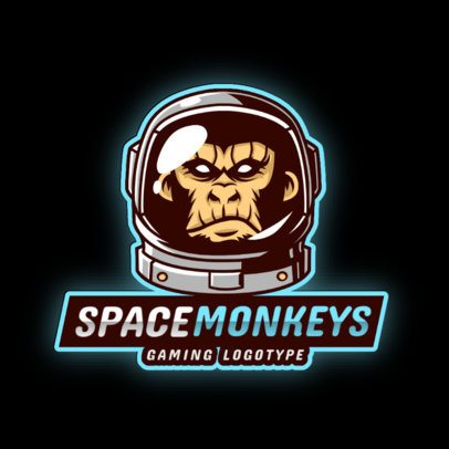 Gaming Logo Template Featuring Monkey Graphics 2903