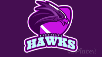 Animated Logo Maker for a Football Team with a Hawk Illustration a245jj-2888
