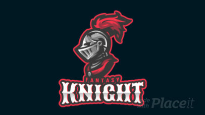 Animated Logo Generator for Gamers Featuring a Knight Clipart 1877m-2883