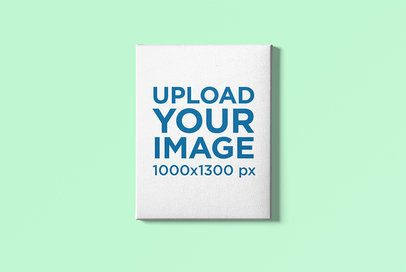 Canvas Art Mockup Featuring a Plain Color Background 2530-el1
