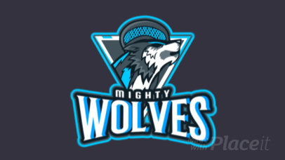 Animated Sports Logo Maker with an Aggressive Wolf Graphic 1748n-2881