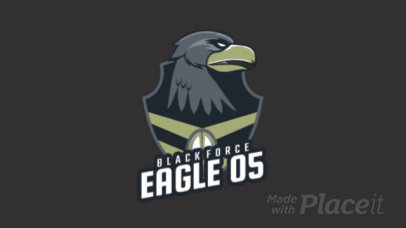 Logo Creator with an Animated Eagle Graphic Inspired in Battle Royale 1847s-2881