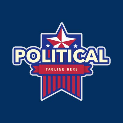 Political Logo Maker Featuring a Star Badge Graphic 2868c