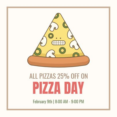 Facebook Post Generator for a Pizza Day Promo 2209c