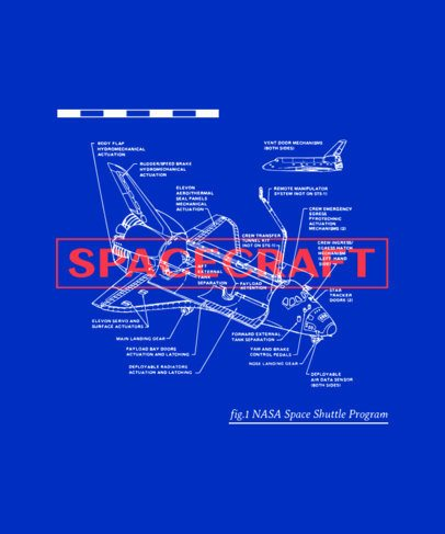 T-Shirt Design Maker Featuring a Spacecraft Graphic with Specs 246c-el1
