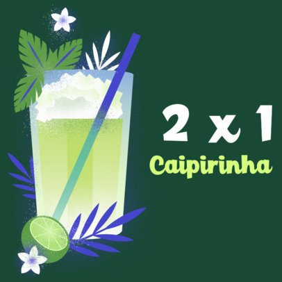 Instagram Post Generator with a Brazilian Carnival Cocktail Promo 2212b