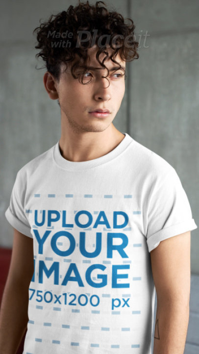 Stop Motion Video Showing Different Angles of a Man Wearing a T-Shirt 22467
