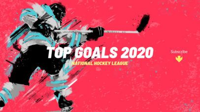 Youtube Banner Maker with a Hockey Theme 2216