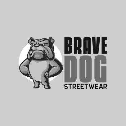 Logo Maker for a Streetwear Clothing Brand with an Aggressive Dog Graphic 697a-el1
