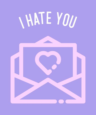 Valentine's Day T-Shirt Design Creator with a Hateful Message 698c-el1