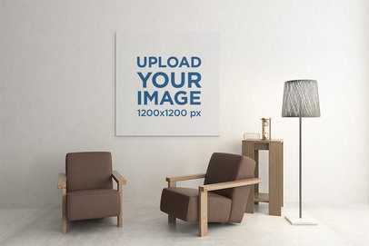 Canvas Mockup Featuring Minimalistic Furniture 2508-el1