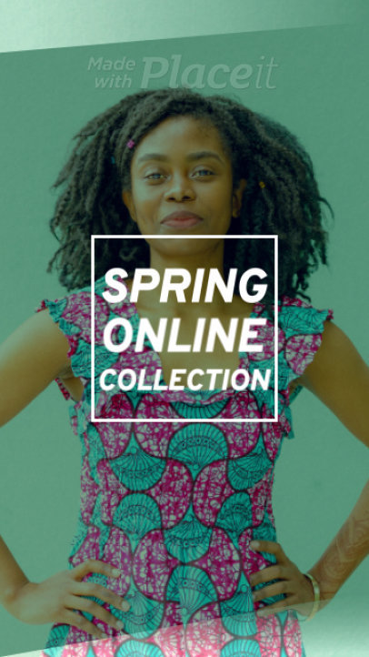 Instagram Story Video Maker for a Clothing Brand's Spring Offers 1271b 401