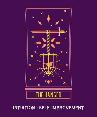 T-Shirt Design Maker with an Epic Tarot Card Illustration 2197a