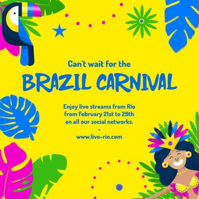 Instagram Post Maker with a Brazil Carnival-Themed Frame 2039e-2211