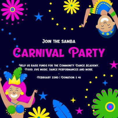Instagram Post Template for a Carnival-Themed Party 2039f-2211