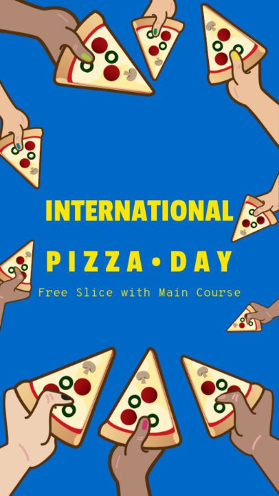 Instagram Story Template for a Free Pizza Slice Offer 2207a
