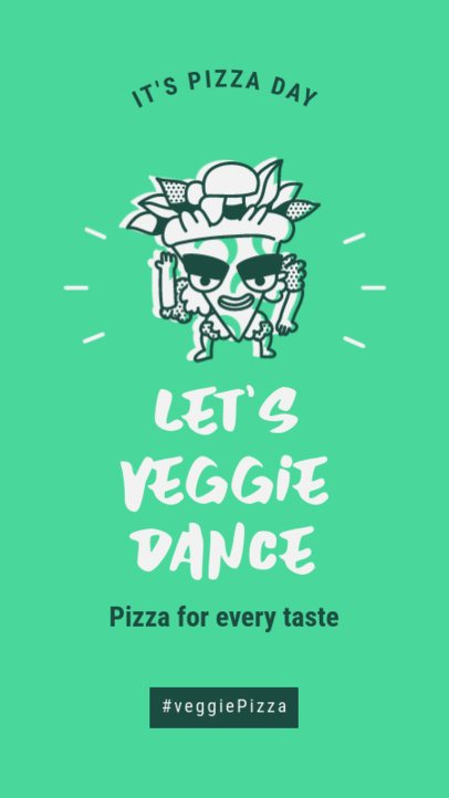 Instagram Story Generator Featuring a Dancing Pizza Clipart 2208a