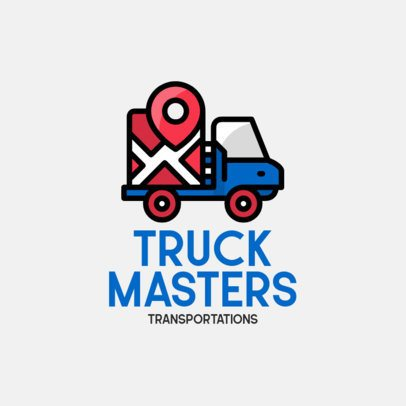 Logo Maker for a Transportation Company with Simple Truck Icons 693-el1