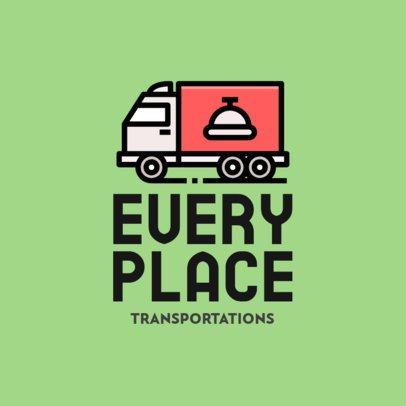 Automotive Logo Maker with a Simple Truck Illustration 693b-el1