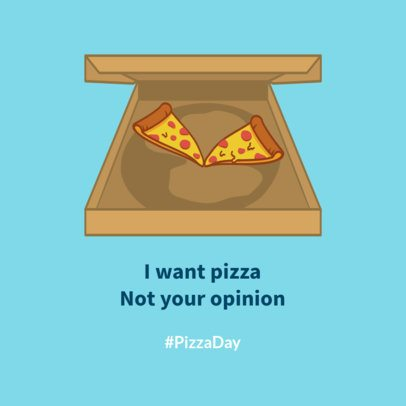 Pizza Day Facebook Post Maker Featuring a Pizza Box Graphic 2210c