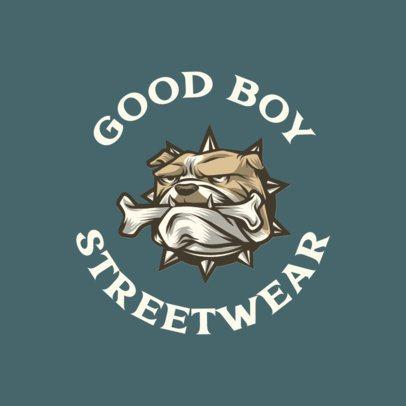 Urban Clothing Logo Template Featuring a Bulldog Graphic 700a-el1