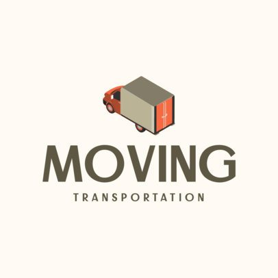 Moving Company Logo Maker with a Detailed Truck Illustration 694b-el1