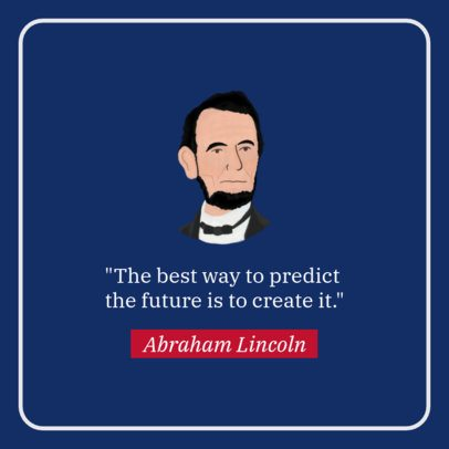 Facebook Post Maker with a Quote by President Lincoln 2204a