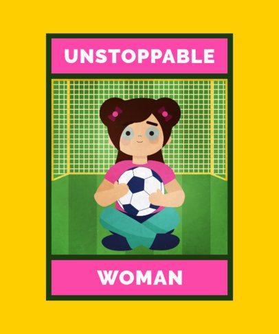 Women's Empowerment T-Shirt Design Creator with a Female Illustration 2193e