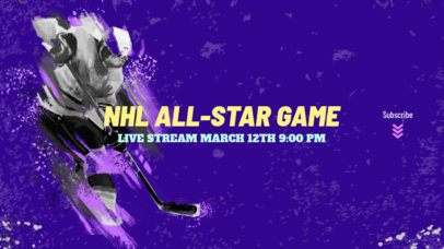Youtube Banner Template for a Hockey Channel 2216a