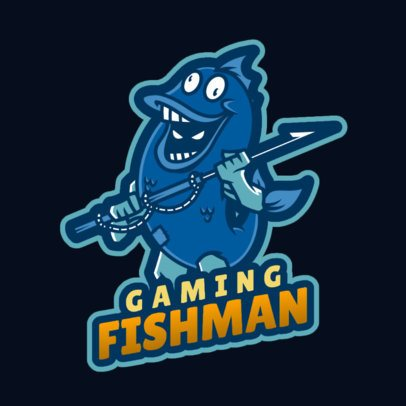 Fortnite-Inspired Gaming Logo Maker Featuring a Man Dressed as a Fish 2407d-2927