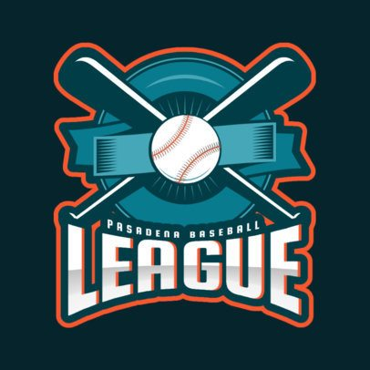 Baseball Logo Creator with a Sports Emblem Graphic 172pp-2929