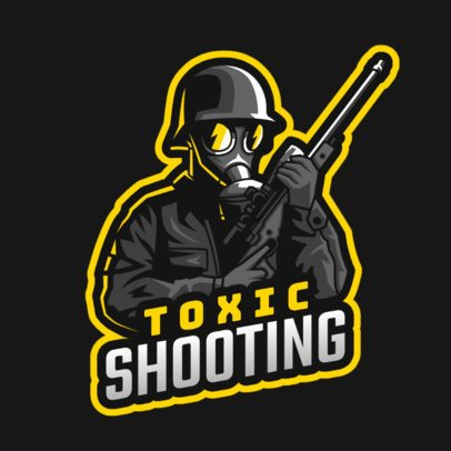 Gaming Logo Template Featuring a Masked Shooter Clipart 2898f