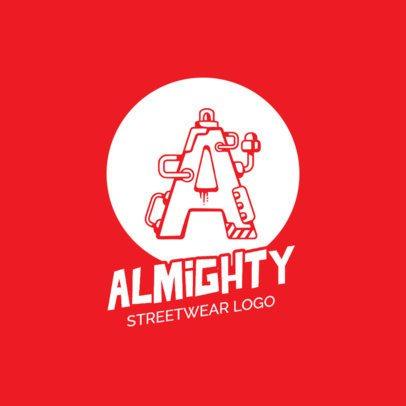 Streetwear Logo Maker with Mechanical Alphabet Letters 260-el1