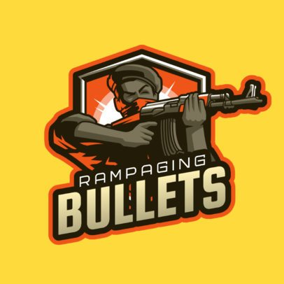 Gaming Logo Maker Featuring a Shooting Soldier Graphic 2898g