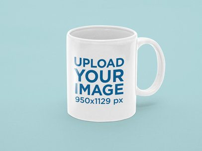 11 oz Coffee Mug Mockup with a Color-Customizable Background 31890