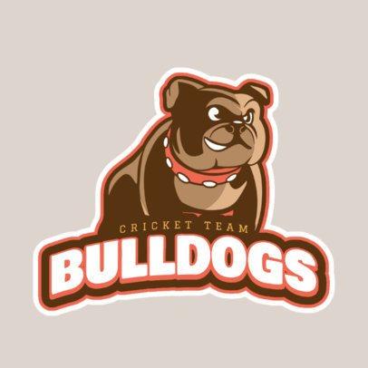 Logo Creator for a Cricket Team Featuring a Bulldog Graphic 1651n-2927