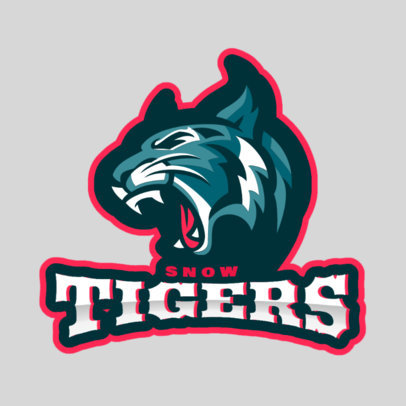 Sports Logo Maker for a Hockey Team with a Tiger Graphic 1560k-2933