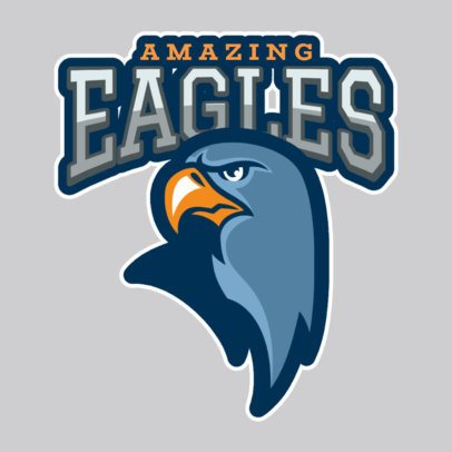 Sports Logo Creator Featuring an Aggressive Eagle 120pp-2927