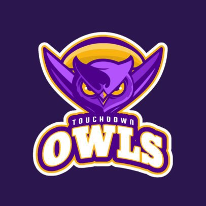 Football Team Logo Maker with a Frightening Owl Mascot 245zz-2929