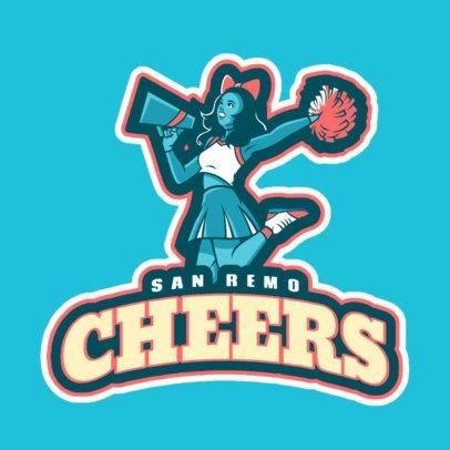 Sports Logo Maker Featuring the Illustration of a Joyful Cheerleader 29ee-2929