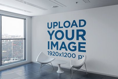 Art Print Wall Mockup Featuring an Apartment with a View 2708-el1