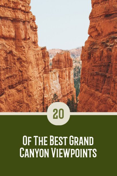 Pinterest Pin Generator Featuring Grand Canyon View Points 2245g