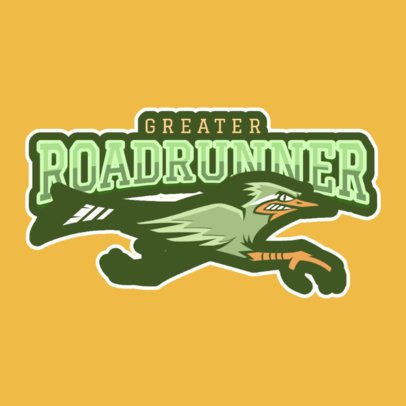 Cool Logo Maker for a Sports Team with a Roadrunner Graphic 120jj-2935