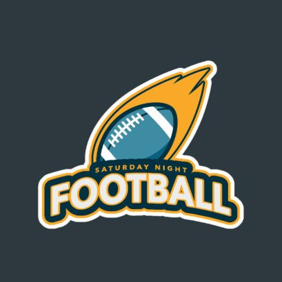 Illustrated Logo Template for a Sports Team With Football Graphics 245cc-2934