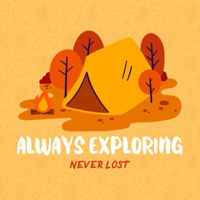 Instagram Post Template Featuring a Camping House Graphic 2239b