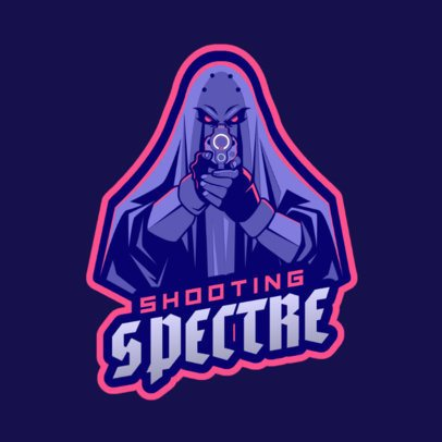 Gaming Logo Creator Featuring a Shooting Ghost 1743z-2929
