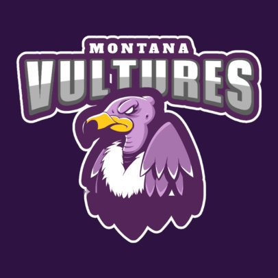 Mascot Logo Generator for Sports Teams With a Vulture Illustration 120mm-2937